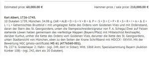 1739年 バイエルン カール・アルバート 10ダカット金貨 MS61 ...