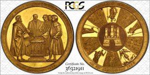 Sold】1828年 ハンブルク憲法改正記念 10ダカット ポルトガレッサー ...
